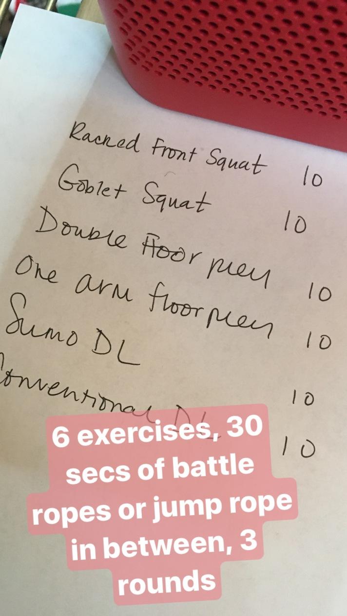 6:30 workout